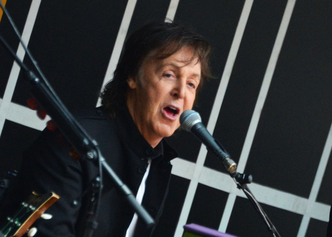 Sir Paul McCartney Surprise Performance In Times Square