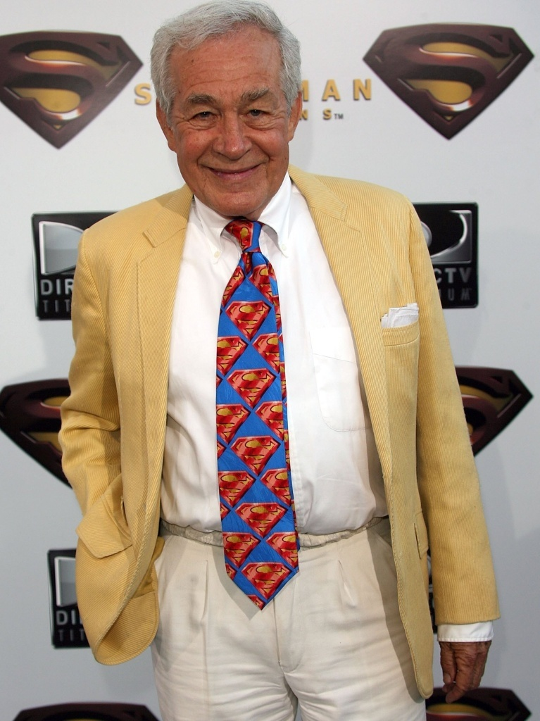 Actor Jack Larson, who played a cub reporter at The Daily Planet, has died at 87. He's seen here at the premiere of