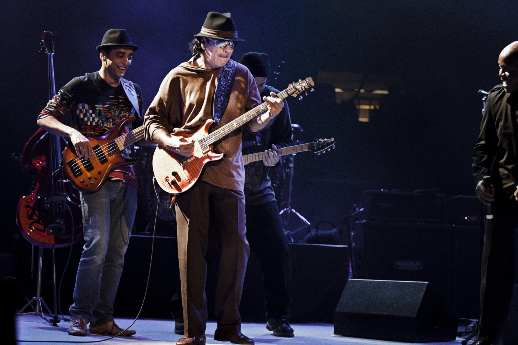 The band Santana became famous in the late 1960's and early 1970s, with a pioneering sound that fused rock, blues, salsa and jazz. Their music featured the blues-based guitar lines of Mexican immigrant Carlos Santana.