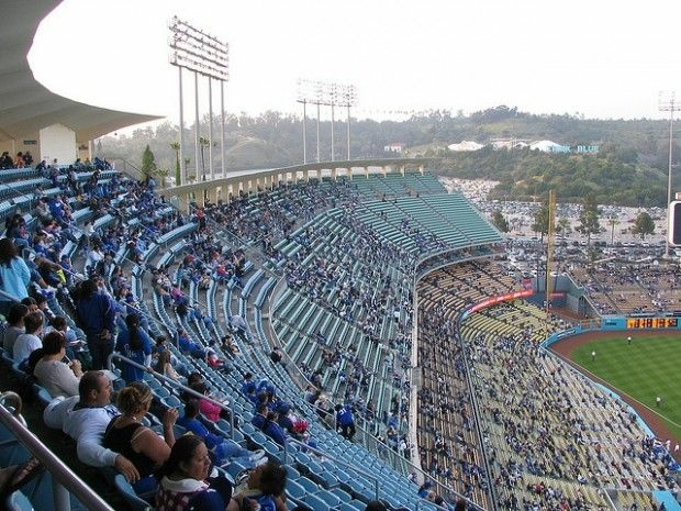 Dodger Stadium during a game, May 2006
