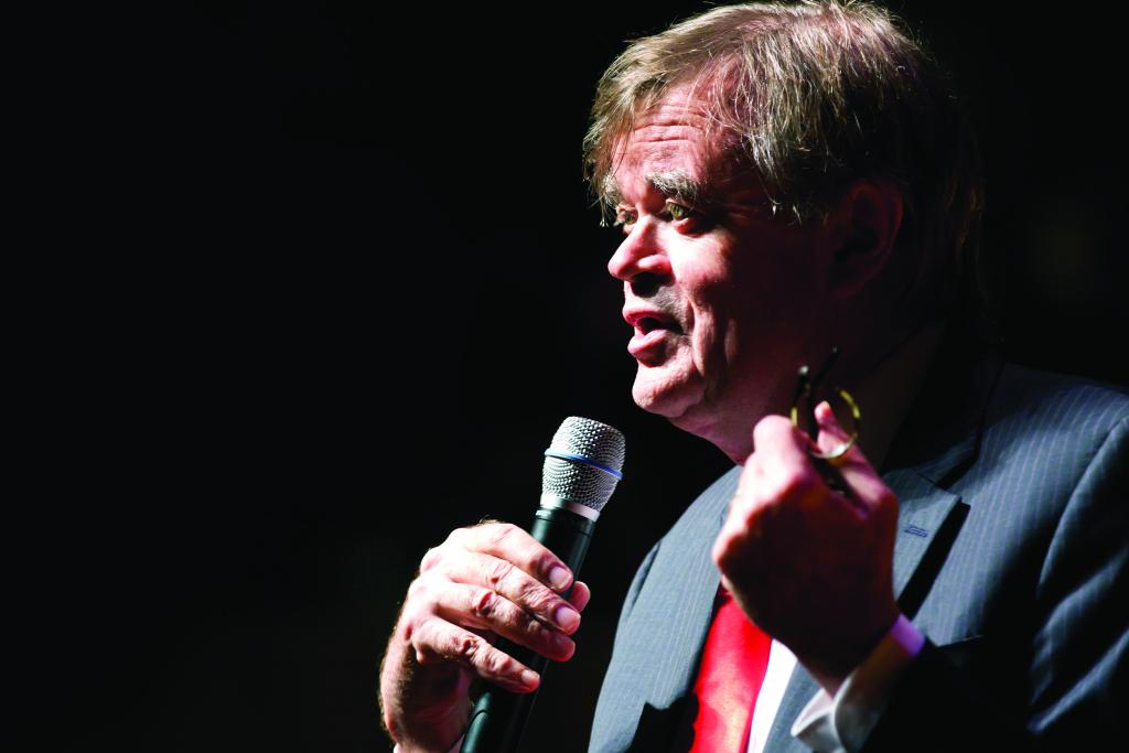 Garrison Keillor, onstage