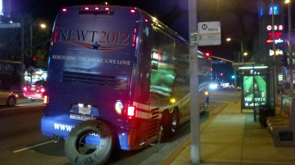 newt gingrich bus west hollywood