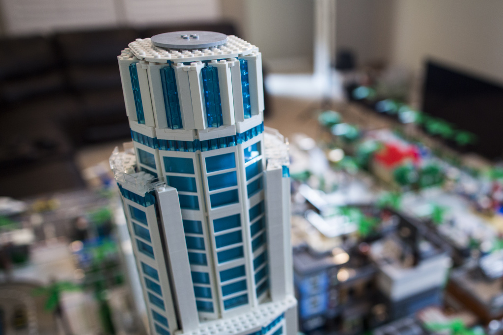 The 1,018-foot US Bank Tower is one of many Los Angeles landmarks that Jorge Parra Jr. decided to include as part of his Lego version of LA. Parra, who recently graduated from UCLA, hopes to soon make a Lego model of Royce Hall.