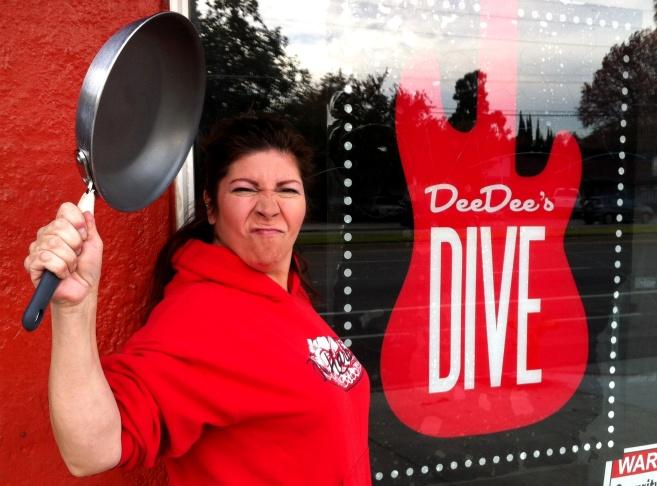 Dee Dee's Dive owner Dee Dee Baca channels The Bucket legend Julio.