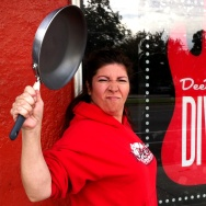 Dee Dee's Dive owner Dee Dee Baca channels The Bucket legend Julio.