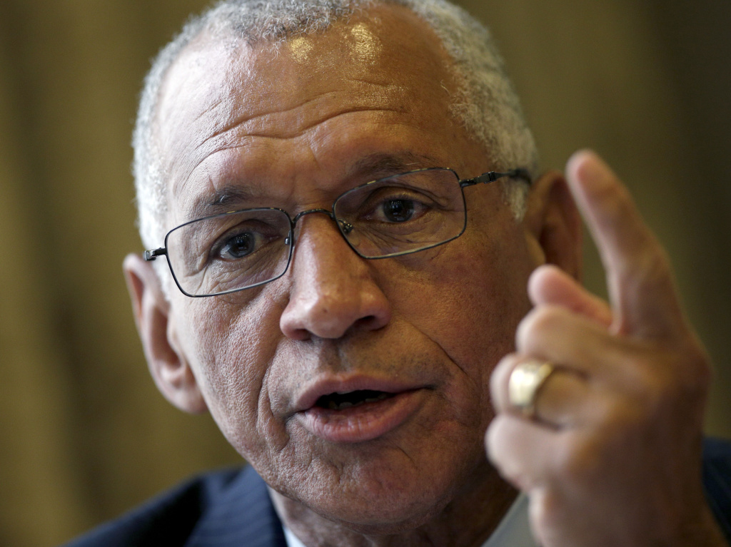 NASA Administrator Charles Bolden speaks during a news conference in Berlin on Monday. Bolden said no single country was indispensable to the International Space Station's success.