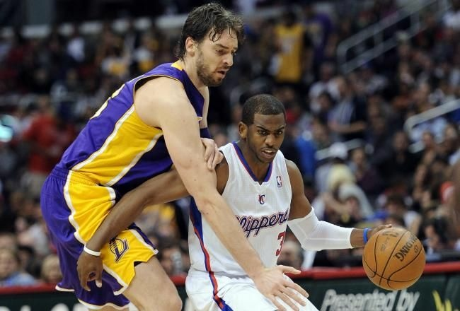 Pau Gasol had a hard time containing the speedy Chris Paul last year at Staples Center.