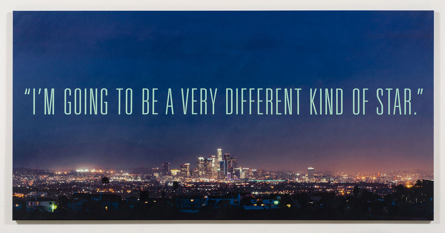 Alex Israel & Bret Easton Ellis, Different Kind of Star, 2016, Acrylic and UV ink on canvas, 84 × 168 inches (213.4 × 426.7 cm), at the Gagosian gallery in Los Angeles