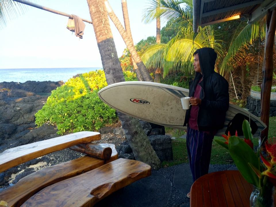 Dimitar Mi Ho grew up in Germany, but fell in love with surfing in Southern California