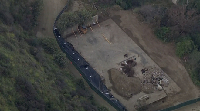 The Runyon Canyon basketball court paid for by Pink + Dolphin apparel is to be built on the site of an unused tennis court in the wilderness area.