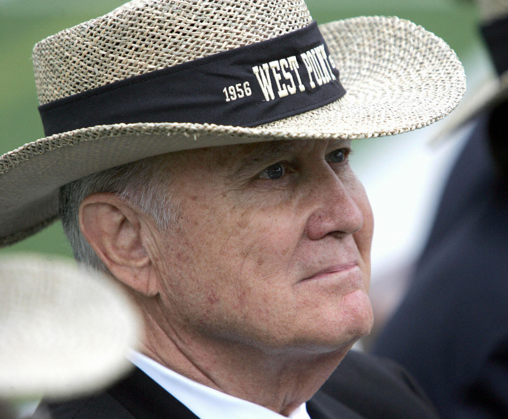 General Norman Schwartzkopf, class of '56 alumnus attends commencement ceremonies 27 May, 2006 the US Military Academy at West Point, New York.