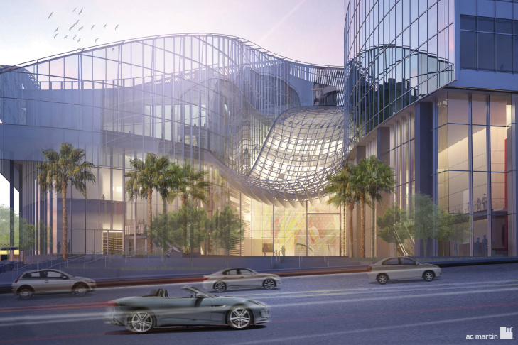 Future Wilshire Grand entrance