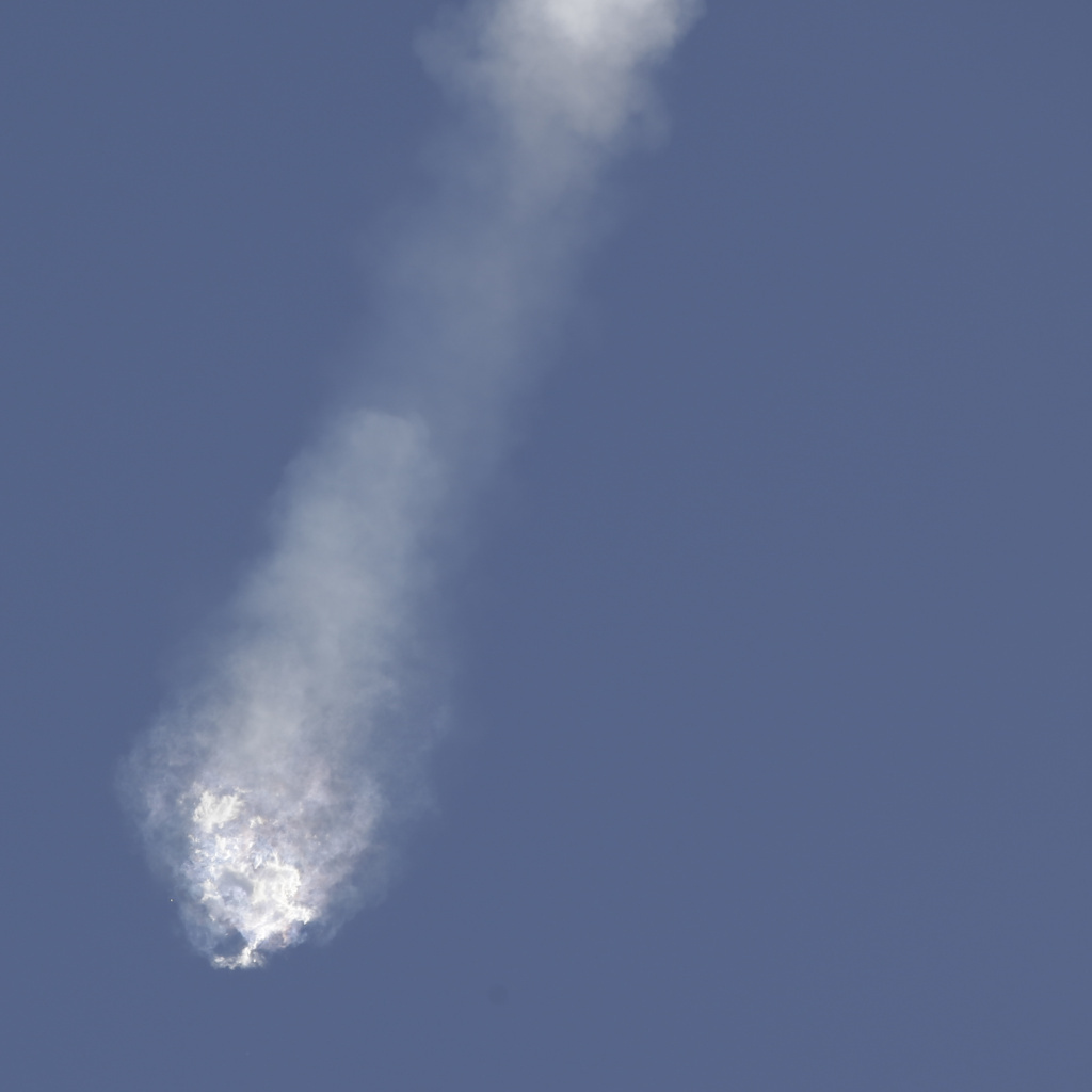 The SpaceX Falcon 9 rocket and Dragon spacecraft breaks apart shortly after liftoff at the Cape Canaveral Air Force Station in Cape Canaveral, Fla., in this file photo. On Monday, July 20, 2015, DEO Elon Musk said he suspects a 2-foot steel strut snapped inside its rocket and led to the launch accident.