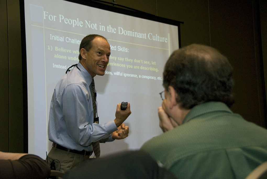 Tim McNichol leads a workshop called