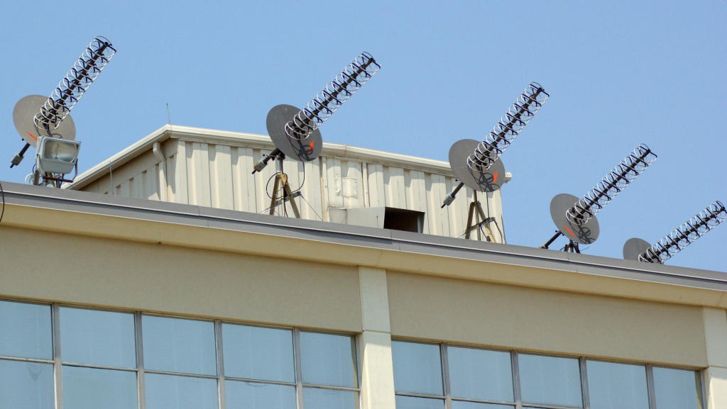 Some of the electronic equipment atop the National Security Agency's facility in Fort Meade, Md.