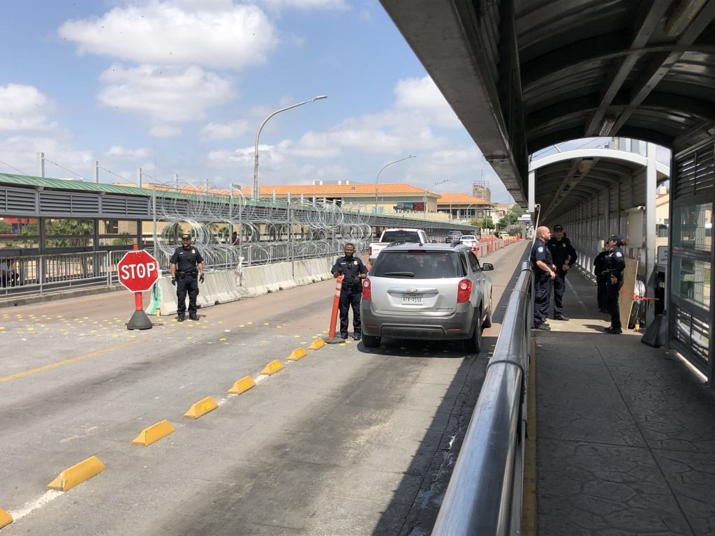 Gateway to the Americas Bridge connecting Laredo, Texas and Nuevo Laredo, Tamaulipas, Mexico, has been nearly empty. On a normal day, about 10,000 people cross from Nuevo Laredo into Laredo. This week, it's barely a trickle.