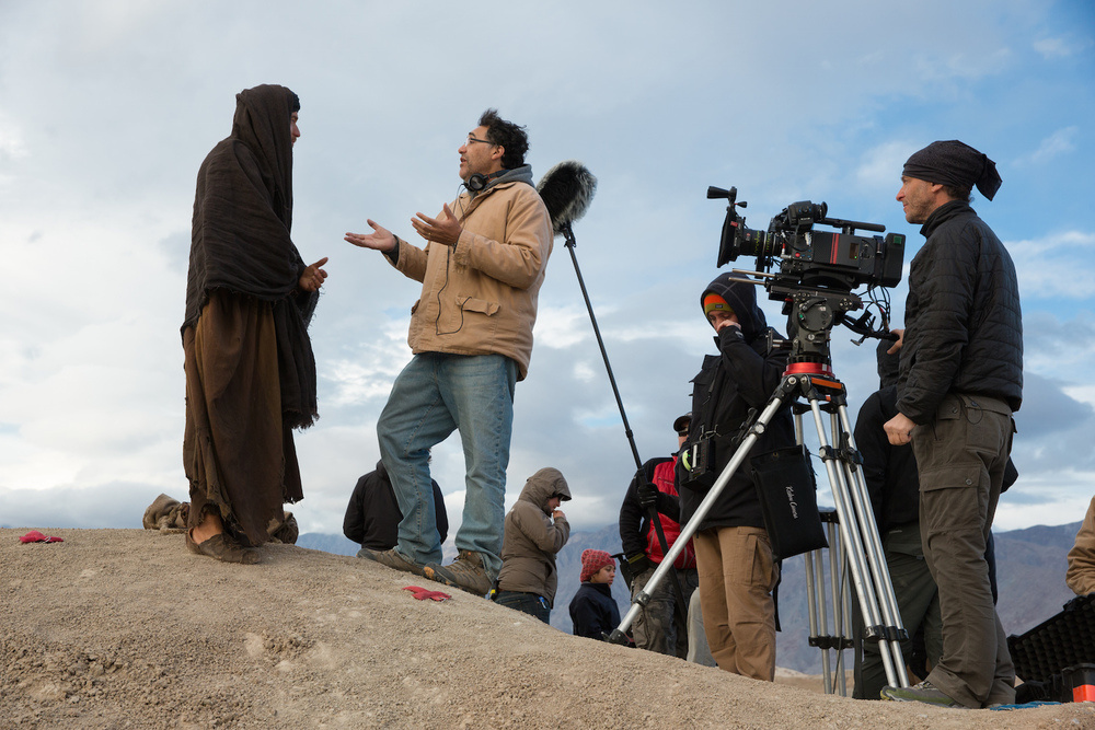 Writer-Director Rodrigo García on the set of his new film, 'Last Days in the Desert'