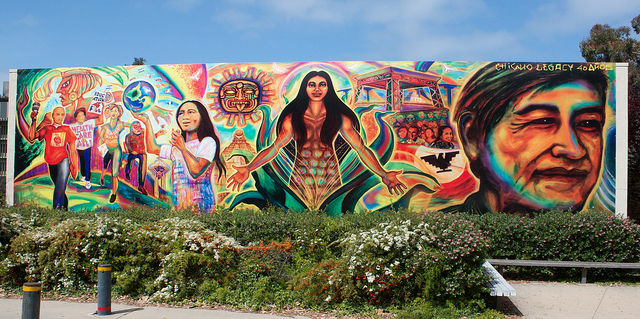 A UC San Diego mural honoring Chicano history and Chavez, April 2010