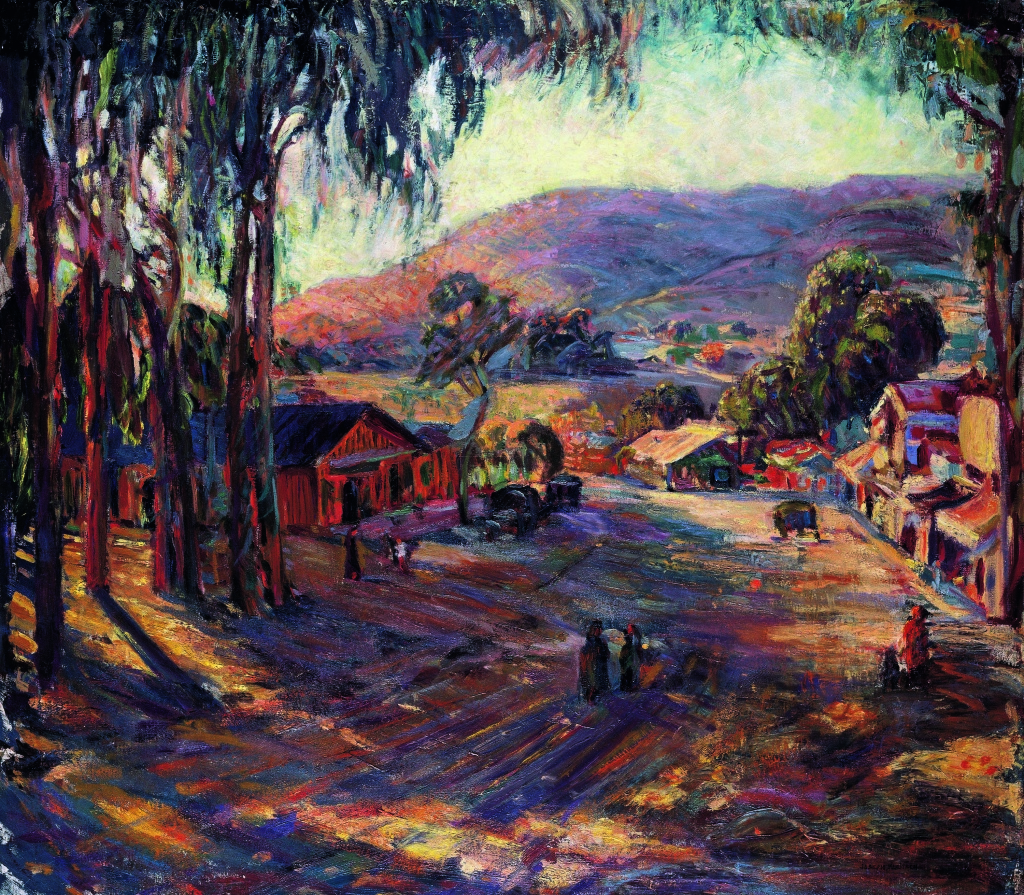 Joseph Kleitsch, Laguna Road II, c. 1929–30. Oil on canvas, 36 x 40 inches. Private Collection