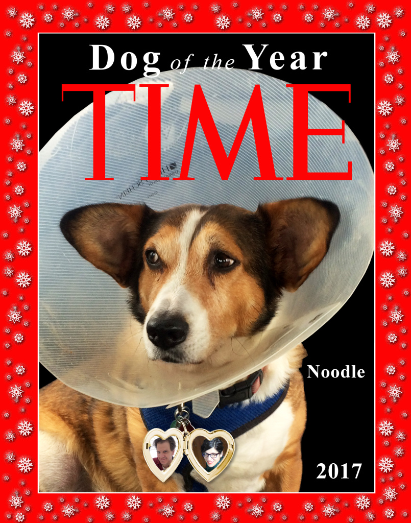 Hilary Hattenbach's Time cover holiday card.