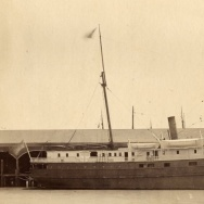 "The steamship ""City of Chester"" in a photograph from the San Francisco Maritime National Historic Park."