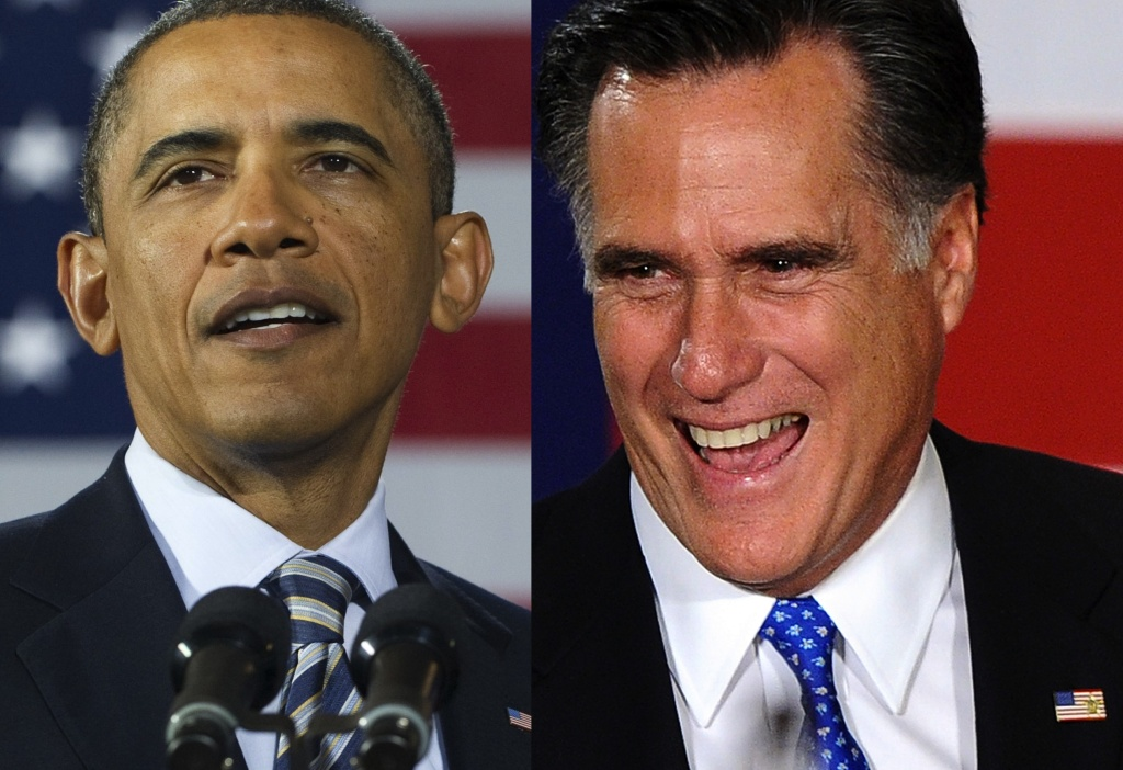 President Obama and Republican presidential hopeful Mitt Romney.