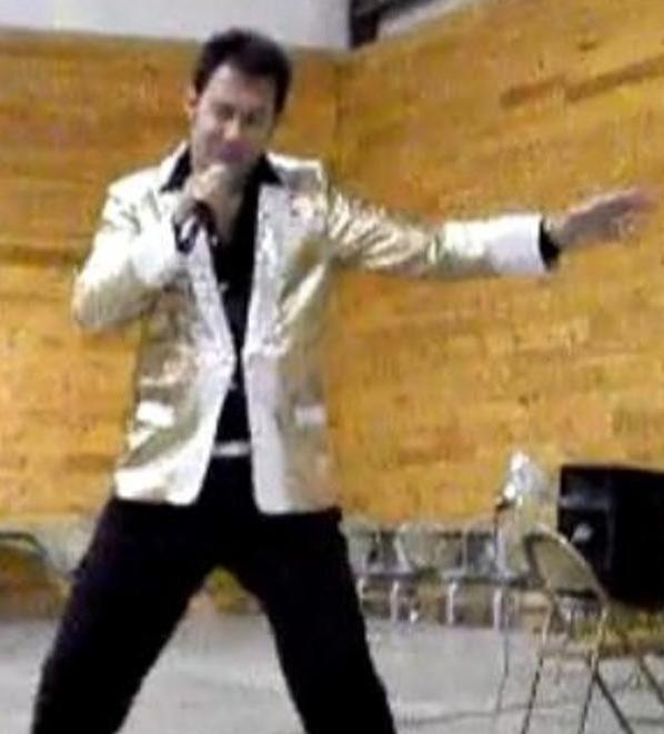 A screen image from a video on the YouTube channel where Paul Kevin Curtis has posted clips of his performances — in this case, as
