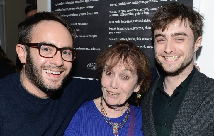 "Director John Krokidas, Roberta Danza and actor Daniel Radcliffe at press dinner for the film ""Kill Your Darlings"" in Park City, Utah."