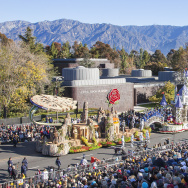 In this handout image provided by Disneyland, The Disneyland Resort entry in the 2016 Rose Parade brings to life the Disneyland Resort Diamond Celebration at the 127th Tournament of Roses Parade.