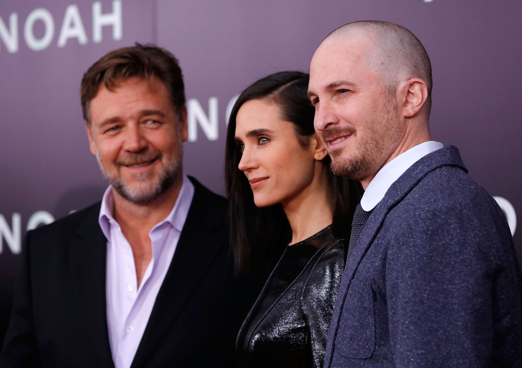Actors Russell Crowe, Jennifer Connelly and director Darren Aronofsky attend the New York Premiere of