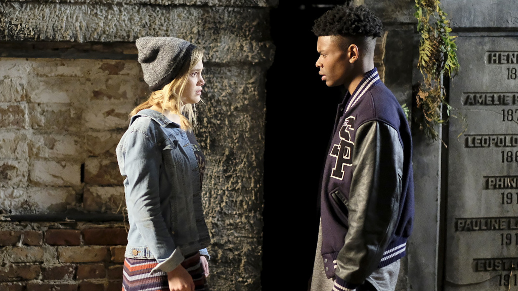 Codependent Some More: Tandy (Olivia Holt) and Tyrone (Aubrey Joseph) discover a connection linked to their respective super-powers in <em>Marvel's Cloak & Dagger</em>.