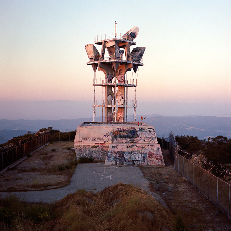 The Topanga Ridge Microwave Relay Tower, as shot by Spencer Harding for his