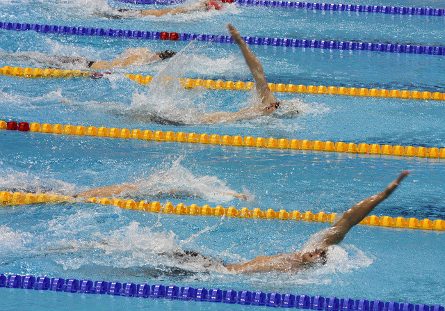 Swimming can be good exercise and beneficial for your back. Some trainers suggest starting with moves like the backstroke.