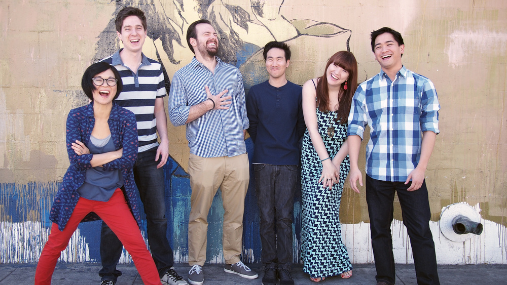 Renegade Justice Patrol, the improv group of Comedy Comedy Festival co-founder Keiko Agena (far left).
