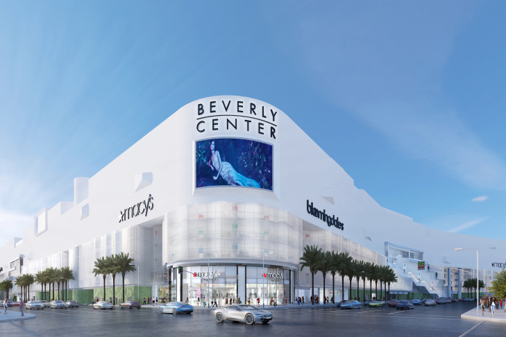 Rendering of the Beverly Center makeover.