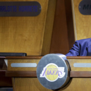 Lakers Coach Byron Scott at the NBA draft lottery in New York on Tuesday. The Lakers secured the No. 2 pick in the draft via the lottery. (Julie Jacobson / Associated Press)