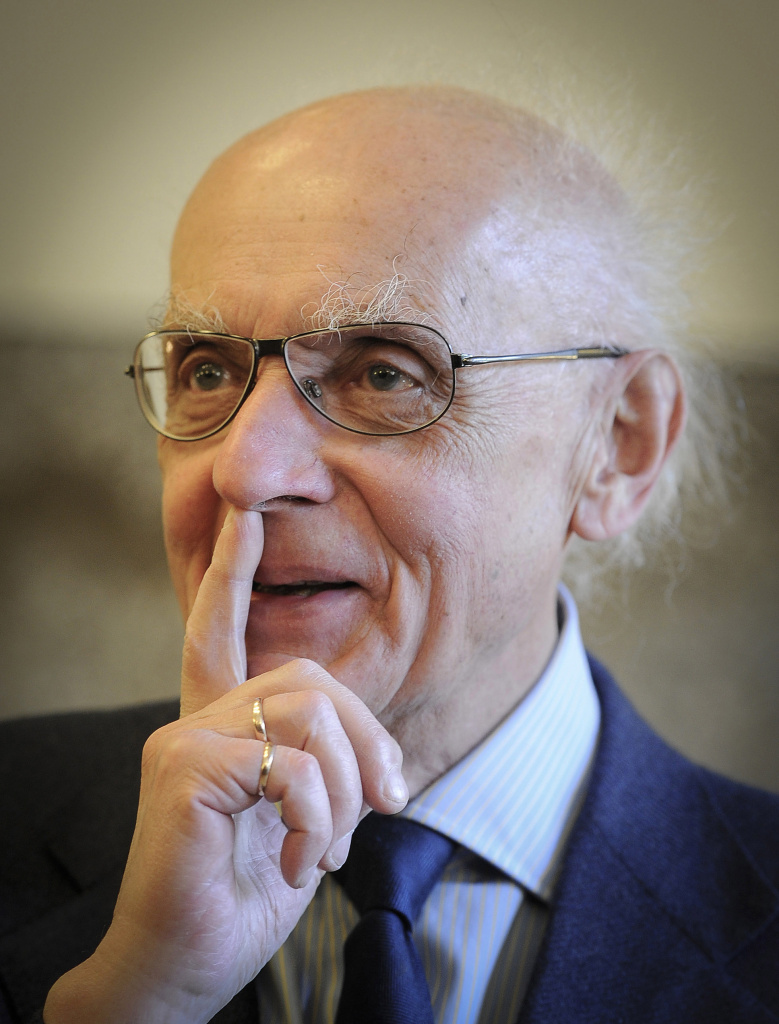 FILE - In this May 6, 2011 file photo Polish pianist and composer Wojciech Kilar is pictured in Katowice, Poland. Kilar, who wrote classical music works and scores for many films, including Roman Polanski's Oscar-winning