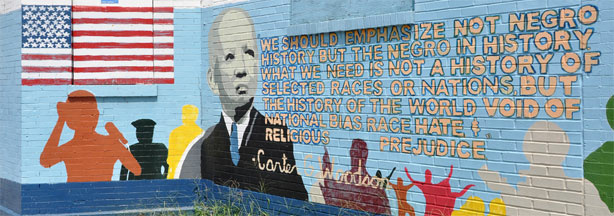 Carter G. Woodson mural on 7th Street in Washington, D.C.