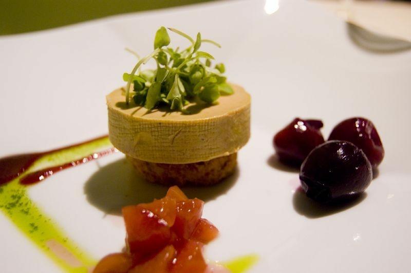 A fancy plate of foie gras