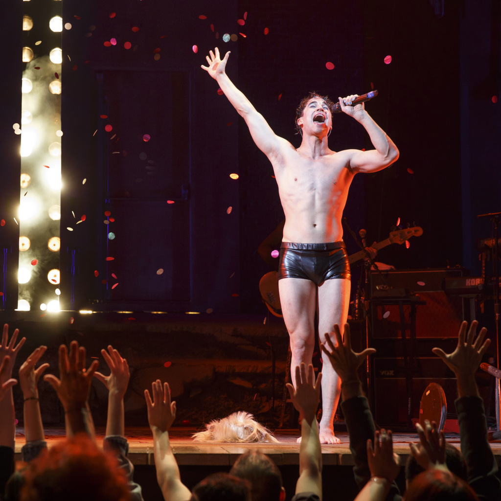 "Darren Criss stars as Hedwig in ""Hedwig & the Angry Inch,"" at the Pantages Theatre."