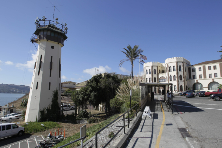 California's death row at San Quentin State Prison.