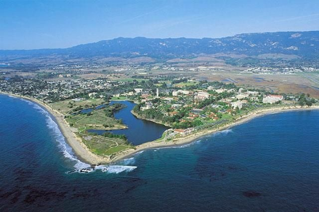 The beachside campus of UC Santa Barbara.