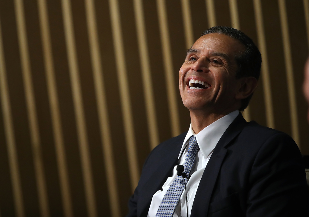 California Democratic gubernatorial candidate and former Los Angeles Mayor Antonio Villaraigosa speaks in conversation as part of the Public Policy Institute of California (PPIC) 2017 Speaker Series on California's Future on June 6, 2017 in San Francisco, California.