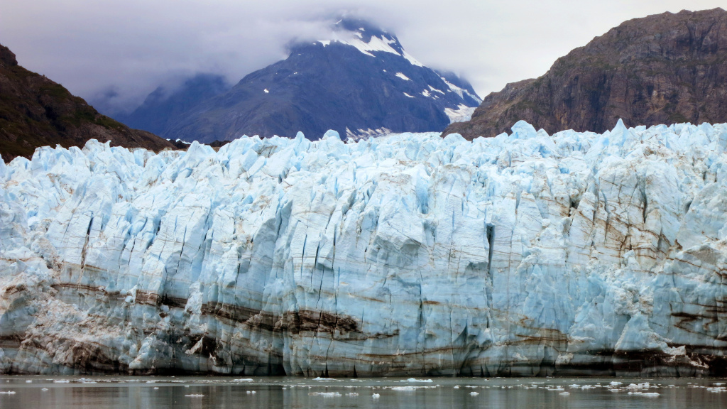 The Margerie Glacier, one of many glaciers that make up Alaska's Glacier Bay National Park. A proposed system of satellites would track and monitor global carbon emissions.