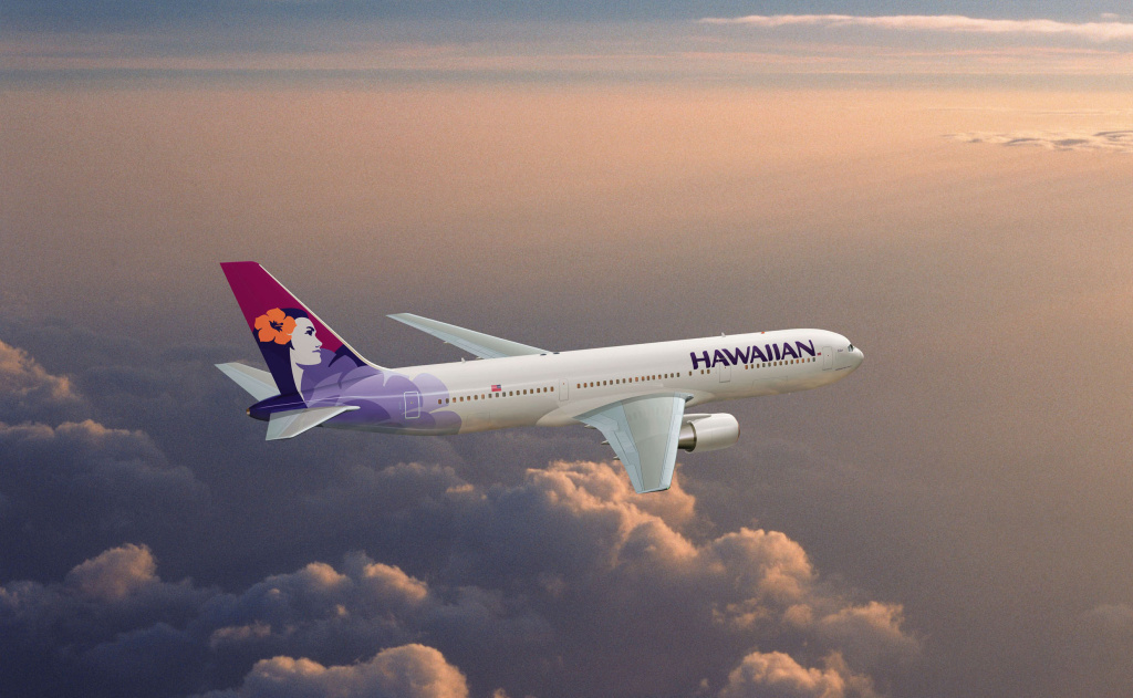 A Hawaiian Airlines Boeing 767. Businessweek chose the jet engine as the most