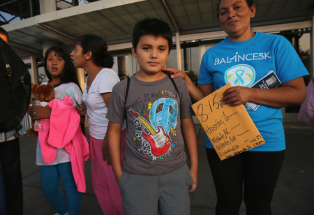 Central Americans Freed By Border Patrol Depart For Destinations Around The U.S.