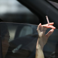 smoking, car