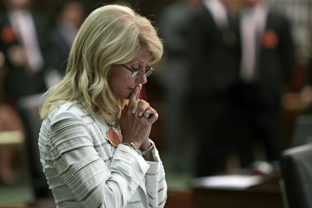State Sen. Wendy Davis (D-Ft. Worth) contemplates her 13-hour filibuster after the Democrats defeated the anti-abortion bill SB5, which was up for a vote on the last day of the legislative special session June 25, 2013 in Austin, Texas. A combination of Sen. Davis' filibuster and protests by reproductive rights advocates helped to ultimately defeat the controversial abortion legislation at midnight.