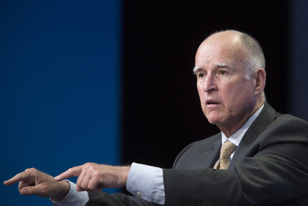 File: Jerry Brown pursues projects that will exist long after he leaves the governor's office but resists the word