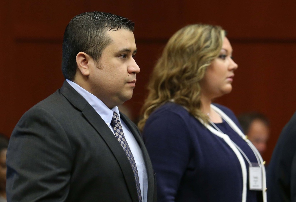 George Zimmerman arrives with his wife Shellie, on the 11th day of his trial in Seminole circuit court June 24, 2013 in Sanford, Florida. Shellie Zimmerman has said they separated a month after he was acquitted in the fatal shooting of 17-year-old Trayvon Martin.